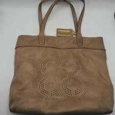 coach audrey leigh leather tote 17041 taupe