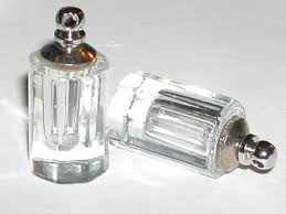 1 facet clear cylinder vial necklace pendant small mini glass bottle cap
