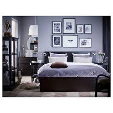 malm bed frame high blackbrownluröy standard double  ikea
