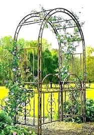 metal garden arch iron garden arch arbors gates arbor gate dark bronze archway patio lawn metal