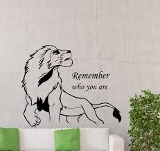 lion king wall decal remember who you