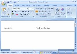 Ms Word 2007 Create A Template From A Blank Document
