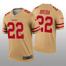 Inverted Matt 49ers Gold Francisco Legend Jersey San Breida