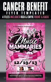 Concert Flyer Templates Free Breast Cancer Flyer Templates Creatives Benefit Concert