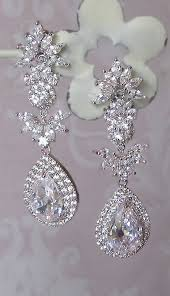 stunning crystal chandelier earrings swarovski rhinestone earrings bridal earrings vintage style leandra
