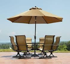 patio table umbrella standard