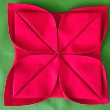 Paper Napkin Folding Flower Easy Paper Napkin Folding Ideas Chinetar Double Star Fold