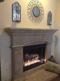 maison blanche la chaux lime paint transformation of my old white cast stone fireplace