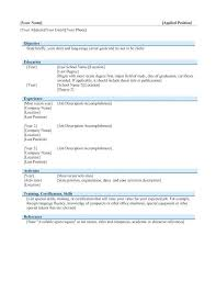 General Resume Template Microsoft Word Download Now Resume Template