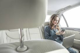 Image result for picture of girl using her phone from car