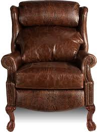 queen anne recliners lazy boy wing chair recliners traditional brown wing