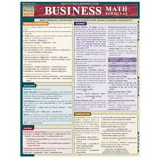 business math business math formulas quick reference guide non book item