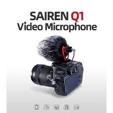 Sairen Vm Q1 Mikrofon Shotgun 3.5mm Untuk Rekaman Wawancara/Vlog/Youtube  Kamera Dslr/Smartphone Android