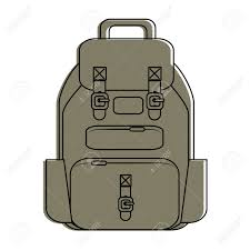 Backpack Graphic Design Camping Backpack Icon Vector Illustration Graphic Design