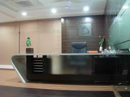simple design business office. interior chic office design with sweet flowers on nice planter plus chair front simple business