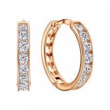 <b>Серьги</b>-<b>кольца из</b> золота — купить золотые сережки конго ...