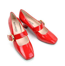 modshoes red patent 60s mary janes style shoes