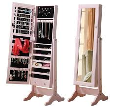 astounding stand up mirror jewelry armoire box pic home decor that i love