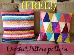 Free Crochet Pillow Patterns Gorgeous FREE Crochet Stripped Pillow Pattern
