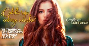 cabello rojo cobrizo o caoba te