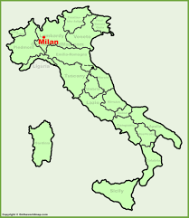 milan location on the italy map