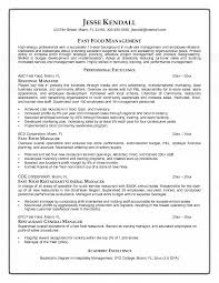 Fast Food Resume Stunning 9314 Resume For Fast Food Manager Perfect Add Articlesinsider