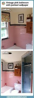 paint stenciled ble bees transform lindsay s vintage pink bathroom
