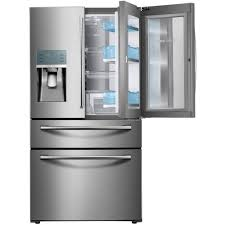 refrigerator 8 cu ft. samsung 22.4 cu. ft. food showcase 4-door french door refrigerator in stainless 8 cu ft