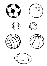 Sports Balls Coloring Pages Printable Sports Coloring Pages Sports