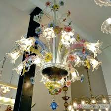 vintage glass chandelier circa multi flowers antique for murano g vintage glass chandelier by for murano