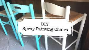 diy spray painting chairs