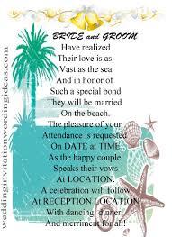 beach wedding invitation wording from bride and groom ~ yaseen for Beach Wedding Invitations Sayings 10 examples of beach wedding invitation wordings beach wedding invitations wording
