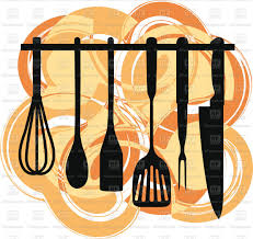 kitchen utensils art. Silhouette Of Rack Kitchen Utensils On Abstract Background Vector Image \u2013 Artwork Silhouettes Click To Zoom Art