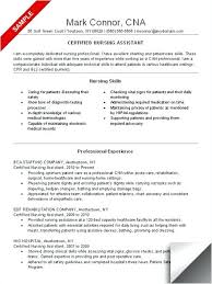 Sample Cna Resume Resume Sample For New Graduate New Best Certified
