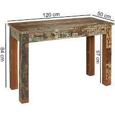 Finebuy Konsolentisch Kalkutta 120 X 50 X 84 Cm Massivholz