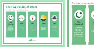 Five Pillars Of Islam Classroom Display Poster Twinkl