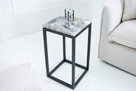 casa padrino designer side table with onyx 30 x 30 x h 50cm multicolor