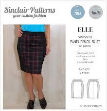 Skirt Patterns Gorgeous Elle Classic Wovenknit Panel Pencil Skirt PDF Sinclair Patterns
