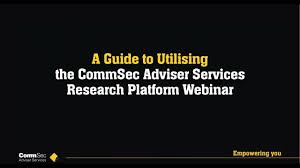A Guide To Utilising The Commsec Adviser Services Research