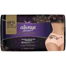 Always Discreet Boutique Underwear