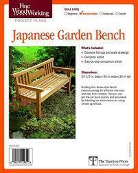japanese garden bench plan