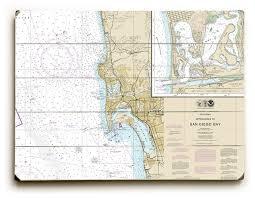 Ca San Diego Ca Nautical Chart Sign
