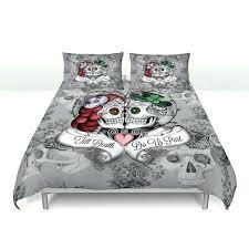 queen bed duvet covers skull bedding sugar skulls duvet cover comforter set always kiss me goodnight day of the dead decor queen size bed duvet cover