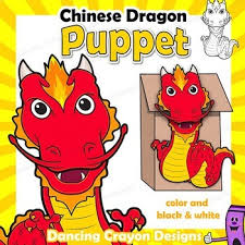 Coloring interests children because it gives them the freedom to express their imaginations. Chinese Dragon Craft Activity Paper Bag Puppet Template Tpt