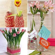 decorating with vases and flowers | Ideas for DIY Recycling Glass Vases and  Flower Arrangements