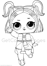 Lol Surprise Doll Coloring Pages Getcoloringpagescom