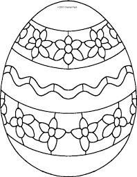 Coloring Pages Easter Eggs L