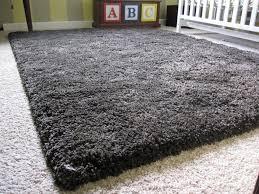 dark gray area rug
