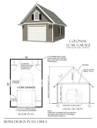 full image for large colonial style one car garage has framed roof and nice big attic