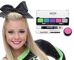 y natural with purple dance cheer makeup kit ba star trending looks cheer purple and natural